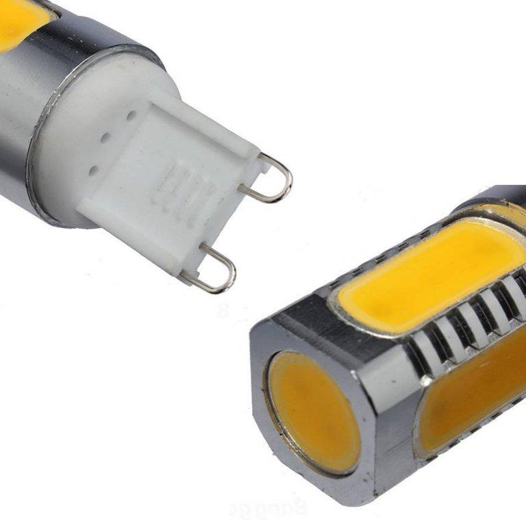 Bombilla led g9 cob aluminio 6w agraled for Bombillas led g9