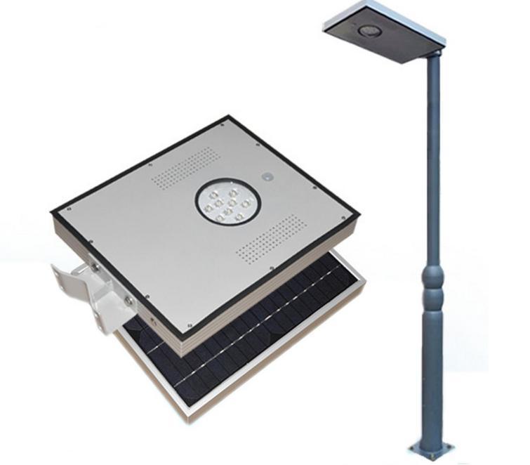Farola solar led integrada alumbrado publico 8w agraled for Alumbrado solar exterior