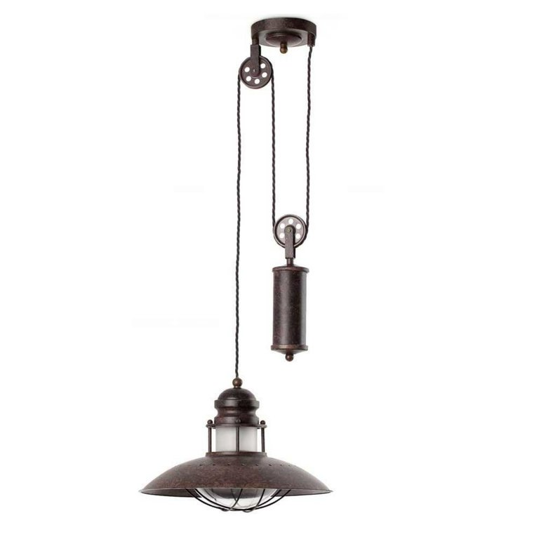 Lamparas vintage best lmpara suspendida whiskey negro e - Lampara polea antigua ...