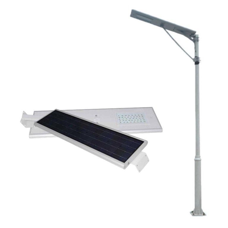 Farola solar led integrada alumbrado publico 40w agraled for Alumbrado solar exterior
