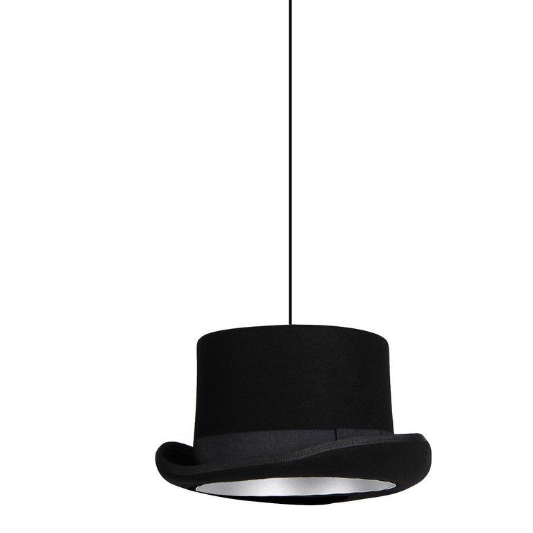 Lampara de techo vintage sombrero copa chistera tela agraled - Lamparas de tela para techo ...
