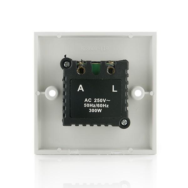 Regulador dimmer led hasta 300w para empotrar agraled for Regulador para led
