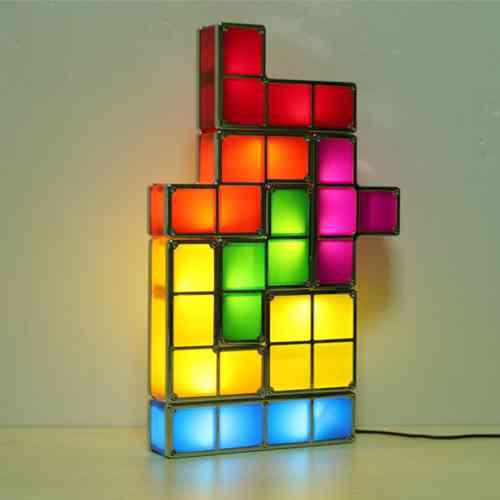 conjunto decoracion tetris led d